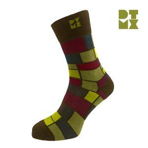 Funky Mondrian Silver Socks