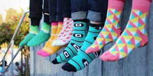 Funky Socks Silver Socks Art Socks