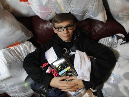 Wyoming student collects nearly 1,900 pairs of socks for homeless