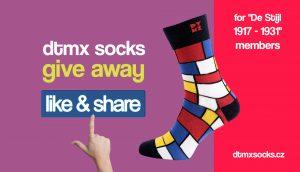 De Stijl Mondrian Socks Giveaway Contest