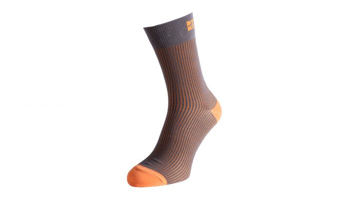 Funky Ribbed Striped Silver Socks