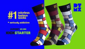 Kickstarter Crowdfunding Mondrian Socks