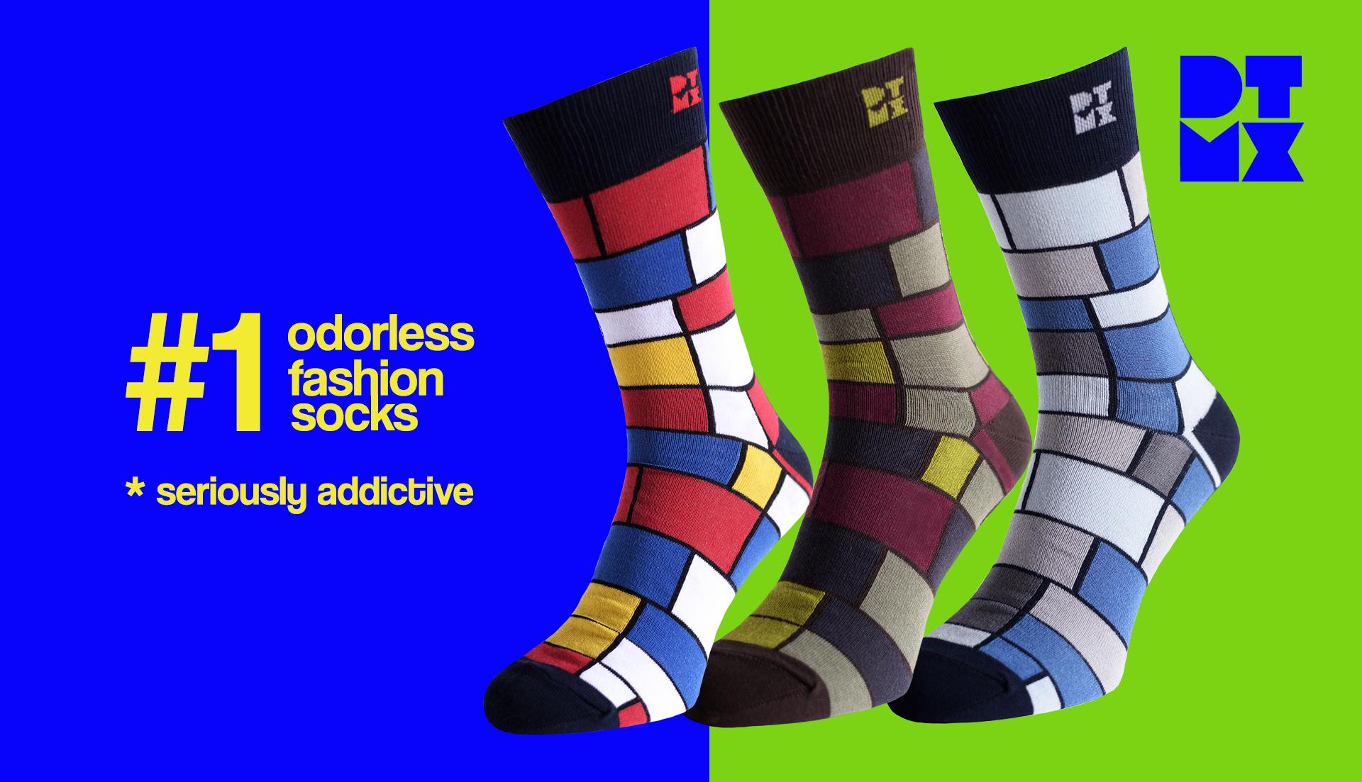 Funky Silver Socks