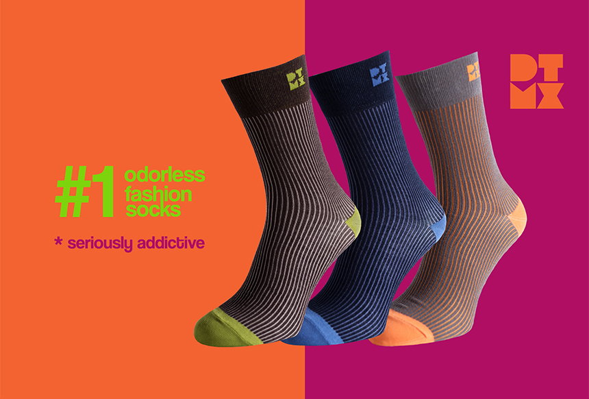 Bamboo Funky Ribbed Socks