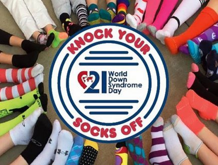 Wear crazy socks March 21 to support World Down Syndrome Day