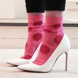 Socks and high heels trend