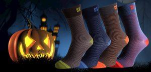 Halloween Socks Funky Striped Ribbed Socks